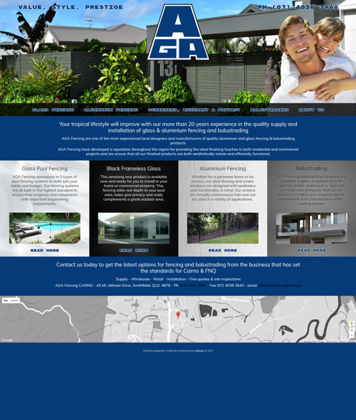 aga fencing townsville web design