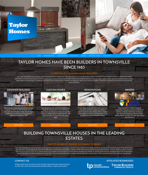 taylor homes townsville web design