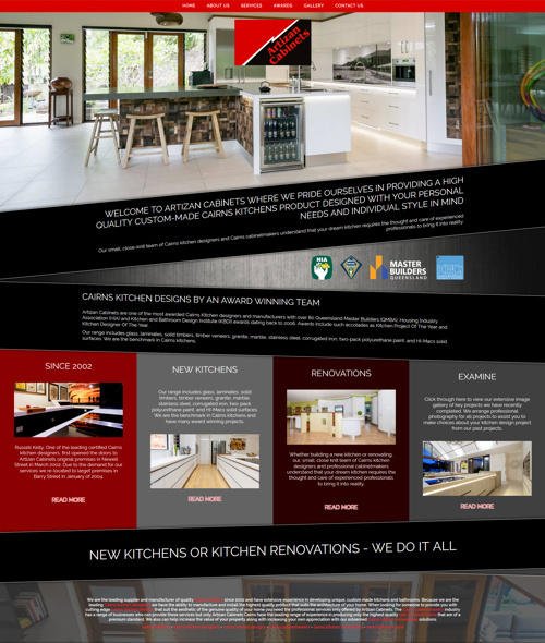 artizan cabinets cairns website
