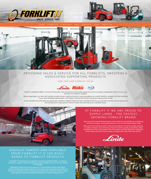 forklift it townsville web design