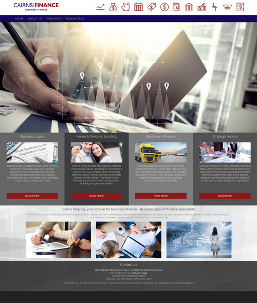 cairns finance website design