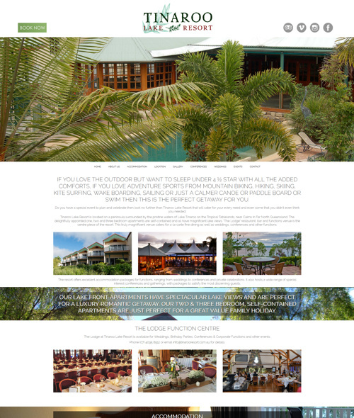 website design for cairns resort