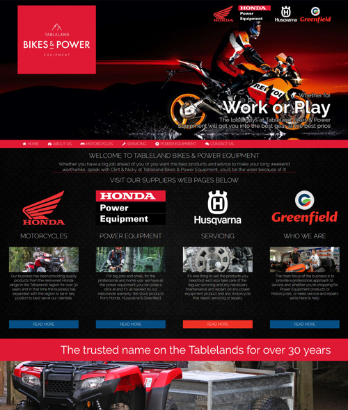 honda motorcycles website design cairns