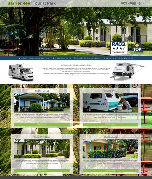 cairns caravan park web design