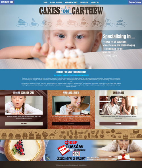 townsville cake shop website design