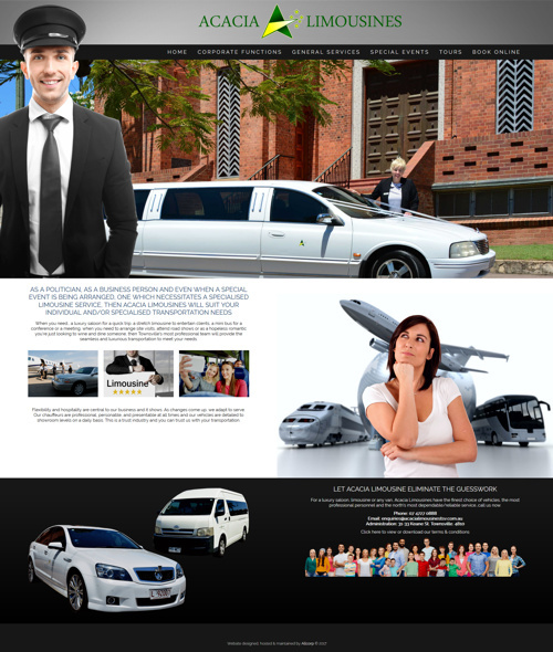 townsville limousines website design