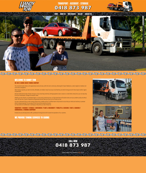 cairns towing company website design