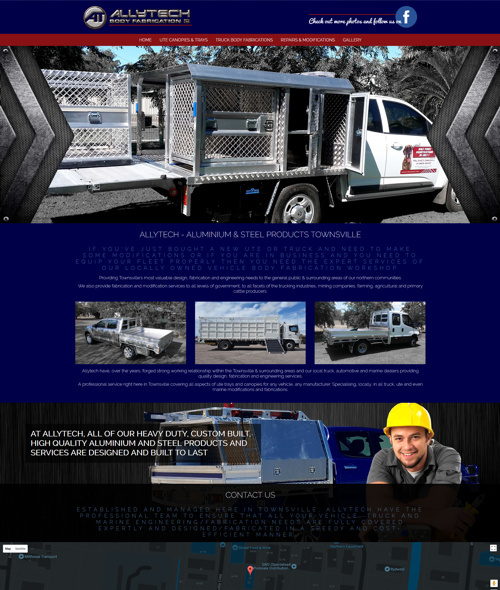 townsville steel fabricator website design