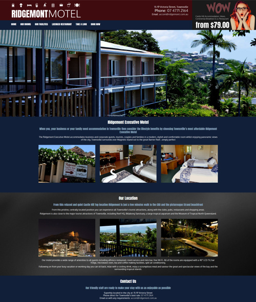 townsville motel website design