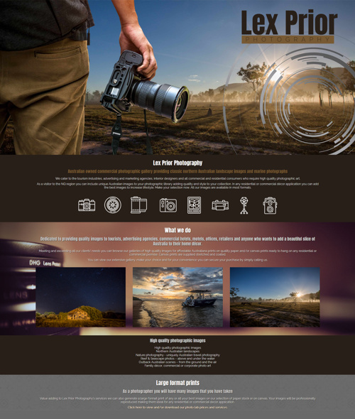 townsville photographer website design