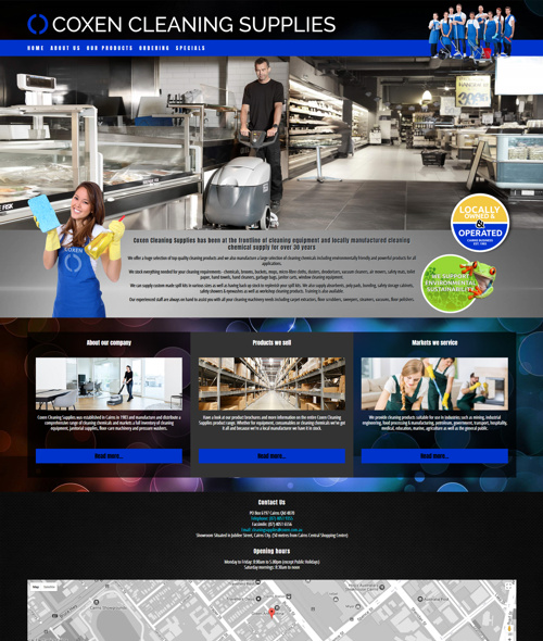 cairns cleaning company website design