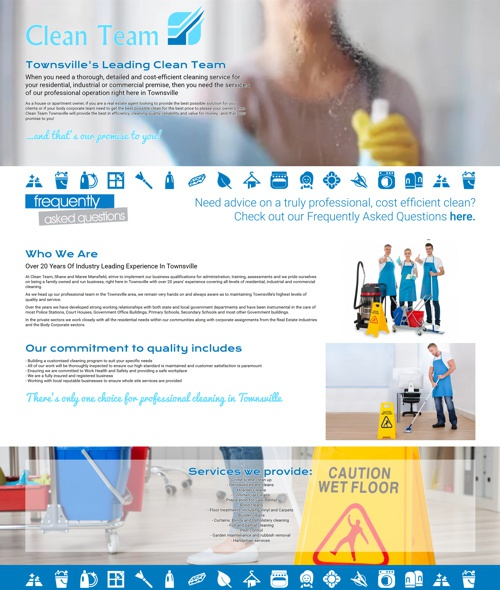 townsville cleaning company website design