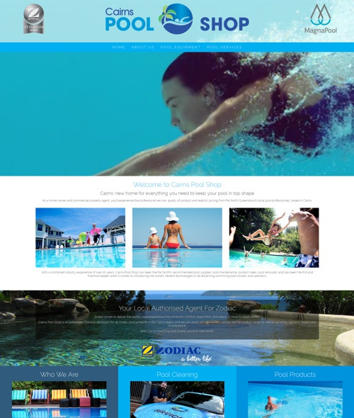 cairns pool shop website design