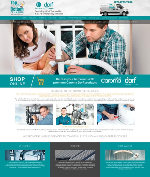 townsville plumbing company website design