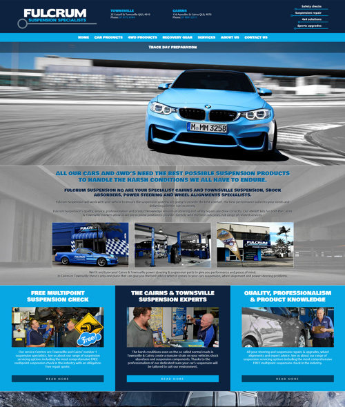 townsville suspension specialist website design
