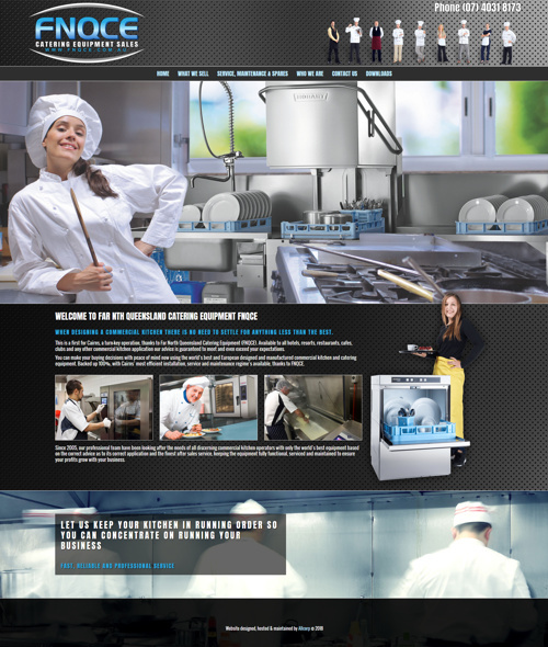 cairns catering equipment supplies website design