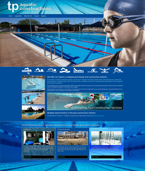 townsville pool builder website design