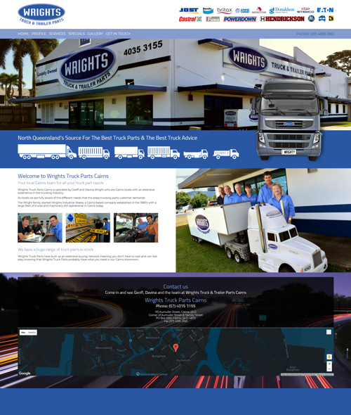 truck parts cairns website design
